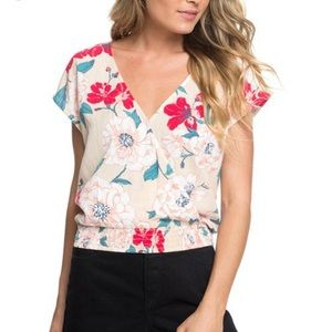Roxy Colorful Island Floral Crop
